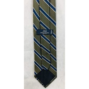 Brooks Brothers 346 Green Blue striped Necktie